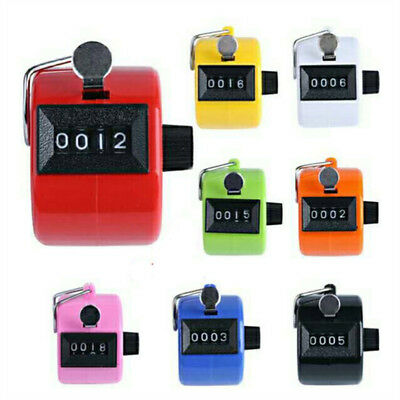 HOT Digital Hand Held Tally Clicker Counter 4 Digit Number Clicker Golf Chrome