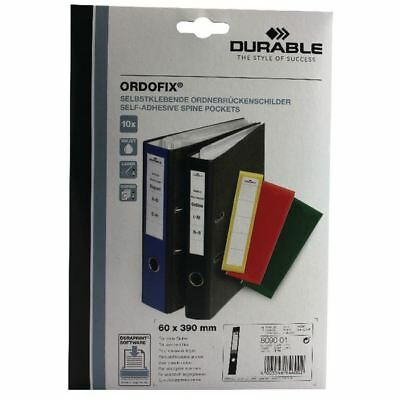 Durable Black Ordofix File Spine Label (Pack of 10) 8090/01 [DB8090BK]