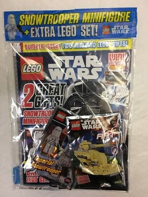 Lego Star Wars Magazine Issue 26 Sept 2017 Bumper Free Extra Pack Snowtrooper