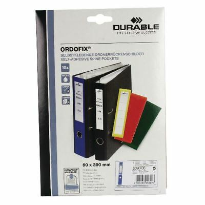 Durable Blue Ordofix File Spine Label (Pack of 10) 8090/06 [DB8090BU]