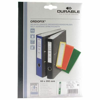 Durable Green Ordofix File Spine Label (Pack of 10) 8090/05 [DB8090GN]