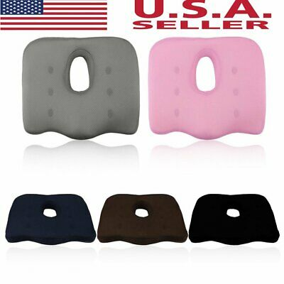 Orthopedic Coccyx Seat Cushion - Foam Tailbone Pillow for Pain Stress Relief MX