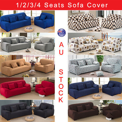 Easy Fit Stretch 1/2/3 Seater Couch Sofa Slipcover Protector lounge Covers
