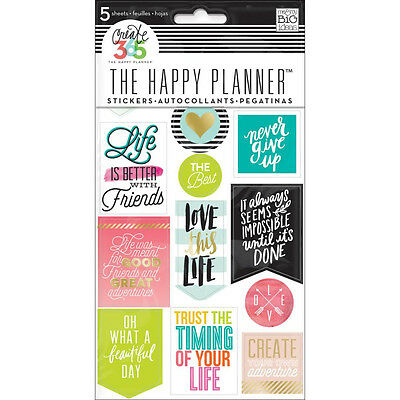 Mambi Create 365 Happy Planner, Life Quotes Diary, Journal, Positive, NEW