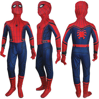 Boys Spider-Man: Homecoming Spider-Man jumpsuit superhero halloween costume toys