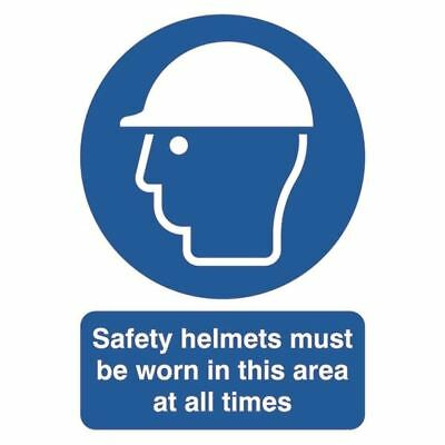 Safety Sign Safety Helmets Must be Worn A4 PVC MA04650R [SR11230]