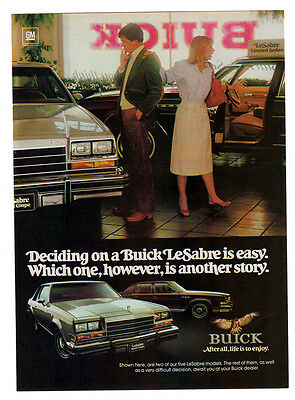 1979 BUICK LeSabre Sport Coupe Vintage Original Print AD - 4-door photo, choice