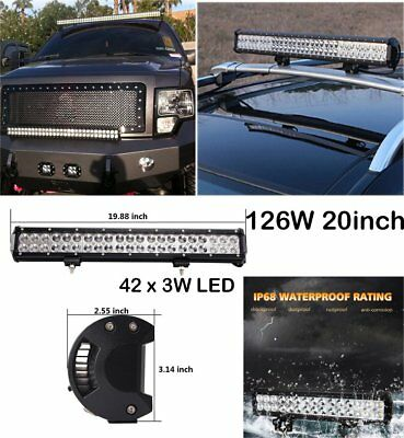 126W LED Flood Spot Light Bar Driving Work Lamp For Off-Road SUV VAN Boat Truck