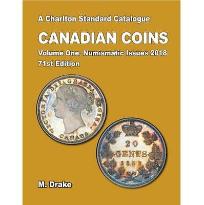 2018 Charlton Canadian Coins Vol. 1 Numismatic Issues 71st Edition **NO TAX**