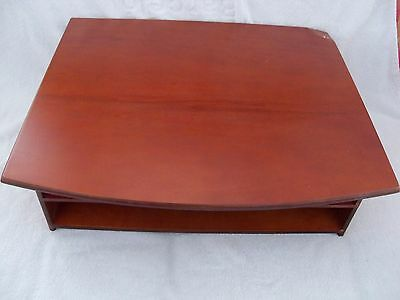Rolodex Mahogany Wood Tones All-In-One Printer Stand w/ Paper Storage