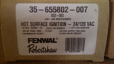 Robertshaw Fenwal 35-655802-007 Hot Surface Ignition Control NEW!!