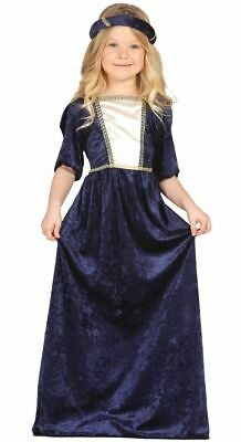 Girls Kids Medieval Princess Historical Fancy Dress Costume Book Day Outfit