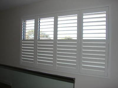 White Plantation Shutter - PVC - 1 Panel - Indoor or Outdoor Use