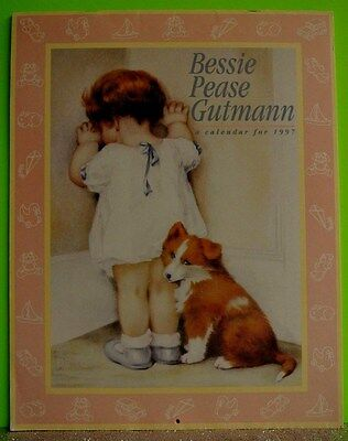 MINT VTG Bessie Pease Gutmann Calendar 1997 12 Month Art Prints Baby Children