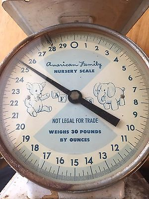 Vintage Old American Family Nursery Scale Baby Scale .