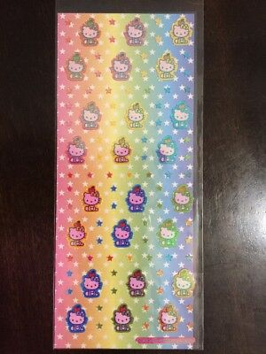 NEW Sanrio Hello Kitty With Apple On Head Shiny Stickers