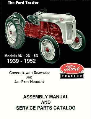 Ford 2N 8N 9N Tractor Assembly Book and Parts Manual 1939-1952 Catalog coil bind