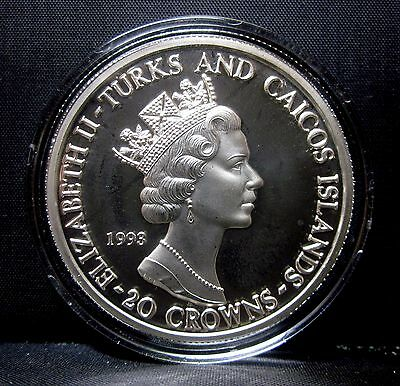 1993 Turks And Caicos Islands ✪ Apollo 11 25Th Anniversary ✪ 20 Crowns ◢Trusted◣