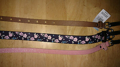 Girls Belts (Pack of 3) New