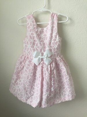 Girls 3T Dress Pink And White New With Tags