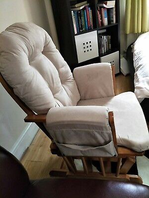 Kub Haywood Reclining Glider Nursing Chair & Footstool (Dark)