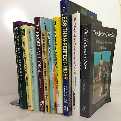 Lot of 10 Horse Books and Equestrian Interests
