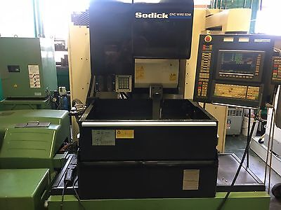 Sodick A-325 Wire EDM Machine Mark 25 CNC Control Orion Chiller Filtration