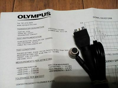 Ultrasound transducer Olympus Panametrics-NDT D799 with cable