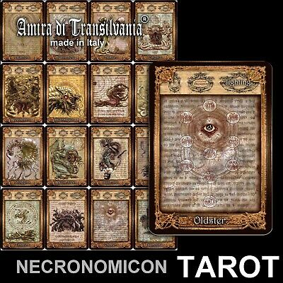 Tarot of the Necronomicon – dark mythical deck tarot – limited hand made edition