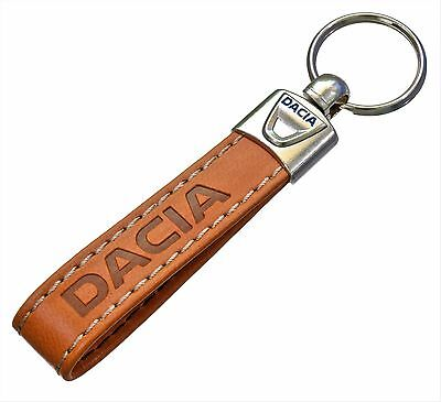 DACIA Eco Leather Keyring Key Chain Keyfobs Accessories Logan Duster Dokker ...