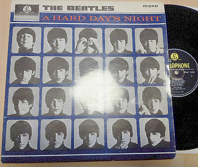 BEATLES a hard Days Night UK Vinyl LP PMC1230 black/yellow 1964 mono 1st press