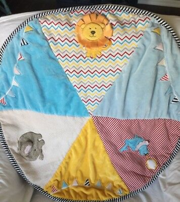 BABY ASPEN Round BIG TOP BABY Circus Themed Playmat Play Mat Activity BLANKET