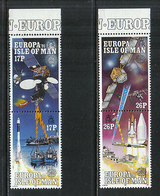 Isle of Man 1991 Europa/Space--Attractive Science Topical (468-71) MNH