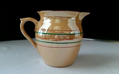 Vintage Creamer/Small Pitcher Lustreware Finish Made by Union K Czechoslovakia