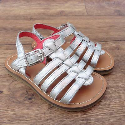 Size Uk 5 Infant Mini Boden Silver Strappy Girls Sandals Summer Shoes