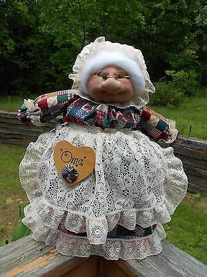 """Soft Sculptured 23"""" Free Standing Grandma Jeweltone Patch with Hearts"""