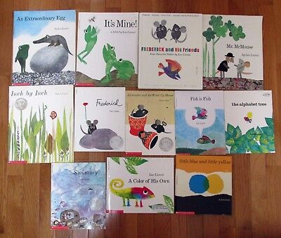 Lot of 12  Picture Books Leo Lionni Teacher Frederick Swimmy Alexander Fish