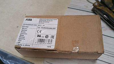 Abb 1Svr405650R1000 Relay Socket New Pack Of 10
