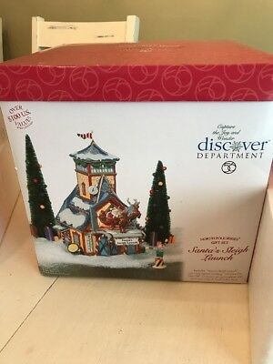 Dept 56 SANTA'S SLEIGH LAUNCH North Pole 5 Pc Gift Set #56734 with Box Retired