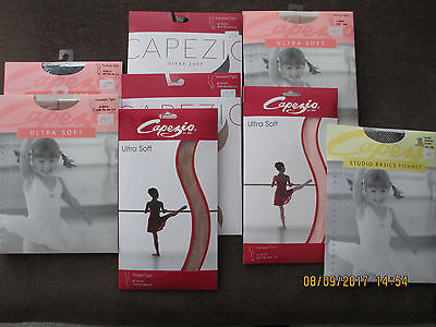 New Girls Capezio Dance Tights Footed, Transition, Footless, Fishnet, Stirrup