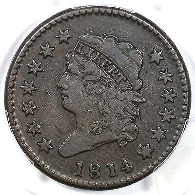 "1814 s-294 PCGS VF30 ""Crosslet 4"" Classic Head Large Cent Coin 1c"