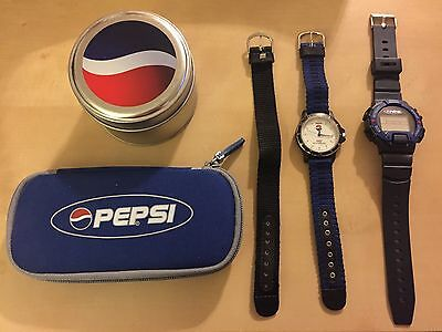 Collectible PEPSI Watches. Lot of 2 Purchased With Pepsi Points Limited Edition