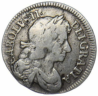 1683 Fourpence - Charles Ii British Silver Coin - Nice