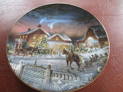 Terry Redlin Trimming The Tree Plate