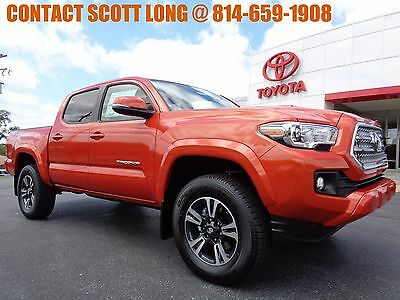 2017 Toyota Tacoma New 2017 Double Cab 4x4 3.5L Inferno New 2017 Tacoma Double Cab TRD Sport 4x4 Navigation Inferno V6 Hood Scoop 4WD