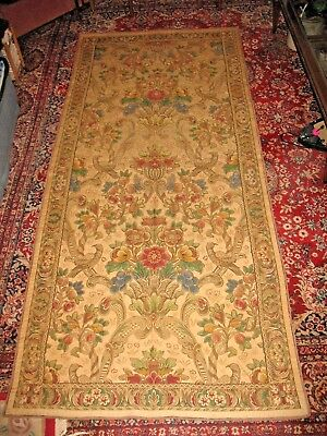 """Antique French Tapestry Early 19th Century Hanging 46 x 104"""" Estate Fresh"""