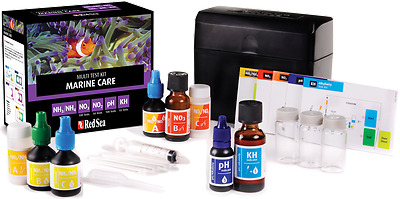 Red Sea Marine Care Test Kit. Ammonia,Nitrite,Nitrate, ph, KH