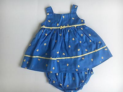 Carter's two piece blue  baby dress  size 3 months