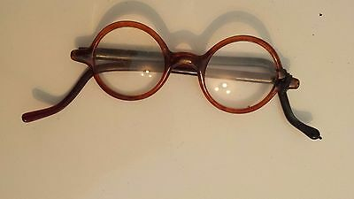 Antique early 1800's eyeglasses (2)  with extra pair of glass for frame
