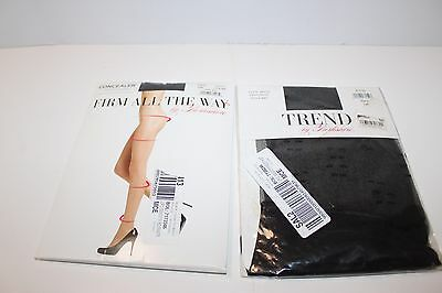 2 Berkshire Pantyhose Nylons Firm All the Way Trend Dots Black Size Tall Sheer